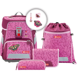 Step by Step Space Schulranzen-Set 5tlg. natural butterfly