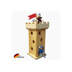 Madera Spielzeuge Spielhaus Ritterburg Turm, Made in Germany Größe 16 x 16 x42