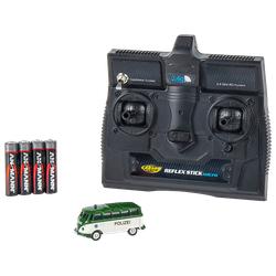 CARSON 1:87 VW T1 Samba Bus Polizei 2.4G RTR Spielzeugmodell, Grün