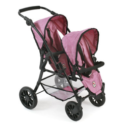 BAYER CHIC 2000 Tandem-Buggy TWINNY Jeans pink