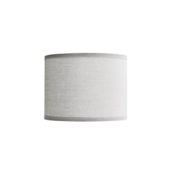Licht-Erlebnisse Lampenschirm GING Stoff Lampenschirm Grau Zylinder E14 Tischlampe Lampe