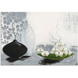 Artland Wandbild Modernes bauchiges Gefäß mit Orchideen, Vasen & Töpfe (1 Stück) 100 cm x 70 cm