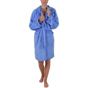 Betz Kinder Bademantel Style mit Kapuze Größen 128-164 Kinderbademantel Farben hellblau Größe 128