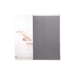 relaxdays Duschrollo Duschrollo grau Breite 100 cm 100 cm x 240 cm