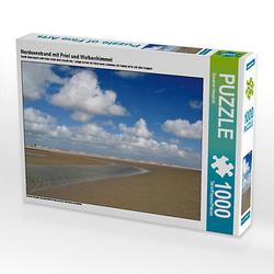 Nordseestrand mit Priel und Wolkenhimmel Lege-Größe 64 x 48 cm Foto-Puzzle Bild von Susanne Herppich Puzzle