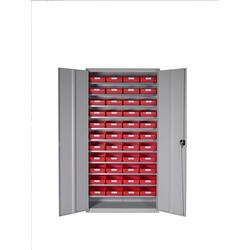 Stemo Schrank komplett mit 44 Kästen rot F-1120