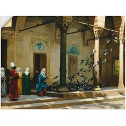 Artland Wandbild Haremsdamen beim Tauben füttern., Gruppen & Familien (1 Stück) 80 cm x 60 cm
