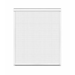 Insektenschutz-Rollo für Fenster, 160 x 160 cm in weiß