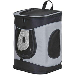 Trixie 28944 Rucksack Timon, 34 × 44 × 30 cm, schwarz/grau