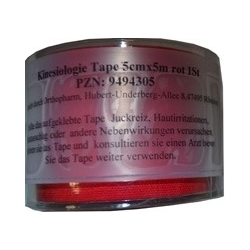 KINESIOLOGIE Tape 5 cmx5 m rot