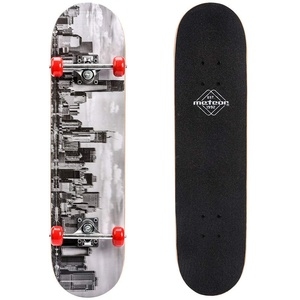 meteor Holz Skateboard Kinder - Mini Cruiser Kickboard - Skateboard mädchen Rollen Board - hohe Qualität Old School Skateboards Holz Deck - Retro Skateboard Jungen - Kinder Mini-Board (City)