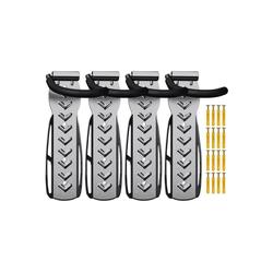 Wellgro Fahrradhalter 4 x Wand Fahrradhalter - Stahl Fahrrad Wandhalterung - Fahrrad haken - Fahrradständer - Ständer