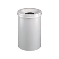 DURABLE Papierkorb grau 15 l - 26 cm x 35.7 cm