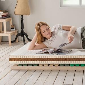 "Naturlatex-Kokos-Matratze ""Vita-Basic"" (090/190cm, Standard, mit Baumwolle)"