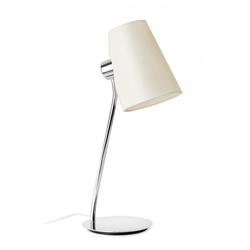 Tischlampe LUPE IP20 Chrom, Beige