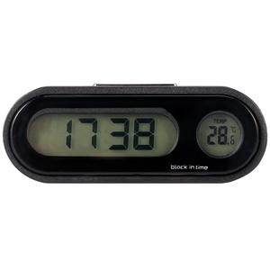 N/A NA Auto-Thermometer-Uhr, 2 in 1 Auto-Digitaluhr-Fahrzeug-Temperaturanzeige mit LED-Hintergrundbeleuchtung, für Universalautos