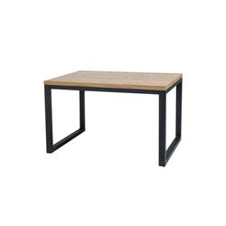 Stół Pazmer 150x90 cm z litego drewna z czarną podstawą