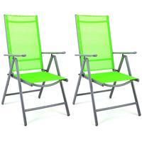 Nexos Klappsessel 56 x 65 x 105 cm grün 2 Stück
