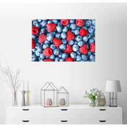 Posterlounge Wandbild, Blaubeeren mit Himbeeren 90 cm x 60 cm