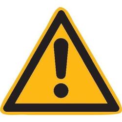Warnschild Fol Gefahrstelle SL 200mm