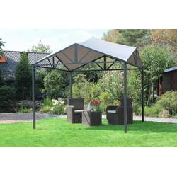 Leco JULE Designer Pavillon 300 x 300cm lichtgrau - 15170114