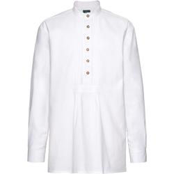 Luis Steindl Schlupfhemd mit Biesen Weiß (Größe: XL)