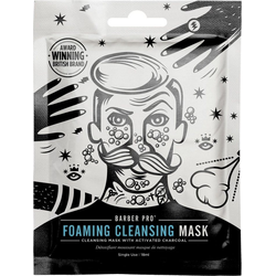BARBER PRO Gesichtsmaske Foaming Cleansing Mask, selbstschäumende Vlies-Reinigungsmaske