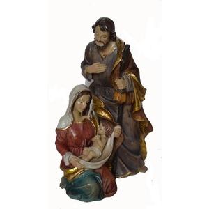 Alfred Kolbe Krippenfigur Familienblock, Höhe 25,5 cm bunt H: 25,5 cm