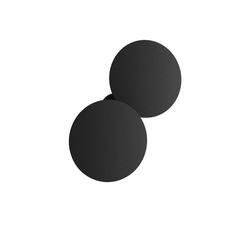 Puzzle Outdoor Double Round Wandleuchte - Anthrazit Schwarz