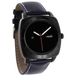 Xlyne Pro Smartwatch X-Watch Nara XW Black Chrome Android IOS navy blue