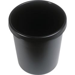"""helit """"the german"""" Papierkorb mit Rand, 30 Liter, Objekt-Papierkorb mit umlaufendem Griffrand, Farbe: schwarz"""