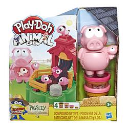 Hasbro Knete Play-Doh Animal Crew Pigsley-Kleine Schweinchen farbsortiert 4 Farben (Gesamt: 170,0 g)