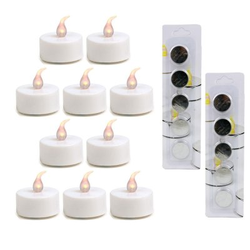 Pajoma 10x LED-Teelicht Romance inkl. Batterie CR2032 + 10x Ersatzbatterien