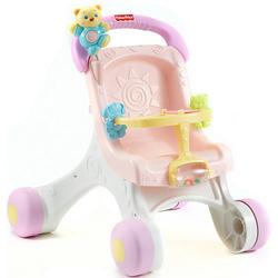 Fisher-Price Puppenwagen (rosa), Lauflernwagen Mädchen, Lauflernhilfe, Laufwagen