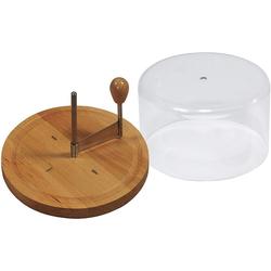 Kesper Käsehobel Käsehobel mit Haube für Käse, Ø 21 cm, Buchenholz