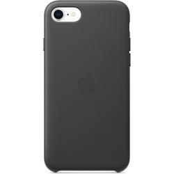 Apple Leder Case (iPhone 7, iPhone 8, iPhone SE (2020)), Smartphone Hülle, Schwarz