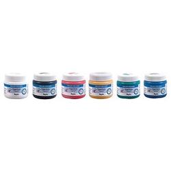 Rayher 6er-Set Fingerfarben blau 150,0 ml, 6 St.