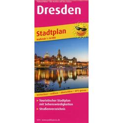 Dresden Stadtplan 1:16 000