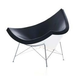 Coconut Chair Stoff mit Kunststoffgleitern