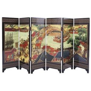lachineuse Paravent mit Motiven, Bianjing Color, 25x10x7cm