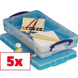 Really Useful Box Aufbewahrungsbox 6C Transparent 6l (B x H x T) 465 x 85 x 270mm 5St.