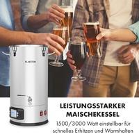 Klarstein Maischekessel Bierbraugerät Bierbrauanlage Craft Beer 3000W 25l Maischfest Boiler
