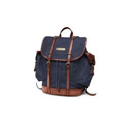 DRAKENSBERG Rucksack Backpack, aus Denim und Büffelleder, 30l