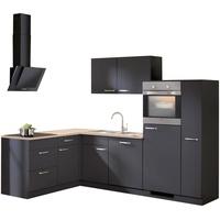 wiho Küchen Winkelküche Michigan L-Form E-Geräte 260 x 170 cm anthrazit