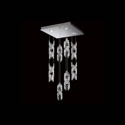 Swarovski Turns Quad LED Hängeleuchte mit Kristallen 3000K