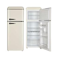 YUNA Kühl-/Gefrierkombination Anouk, 147 cm hoch, 55 cm breit, Retro Kühlschrank Energieklasse E