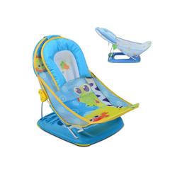 Moni Babywanne Baby-Badewannen-Liege Rory, Badewannensitz weiches Kissen 2 Sitzpositionen blau
