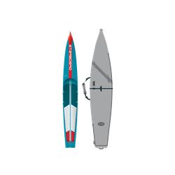 Starboard Sprint Wood Carbon mit Board Bag SUP Board 21 Race, Breite: 23.5'', Länge: 14'0''