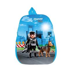 United Labels® Freizeitrucksack Kinderrucksack Playmobil Polizei blau