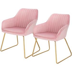 2/4/6er Esszimmerstühle mit Arm-Rücklehne Polsterstuhl Küchenstuhl Samt Metall